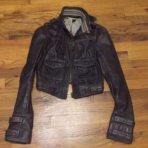 DVF cropped leather jacket